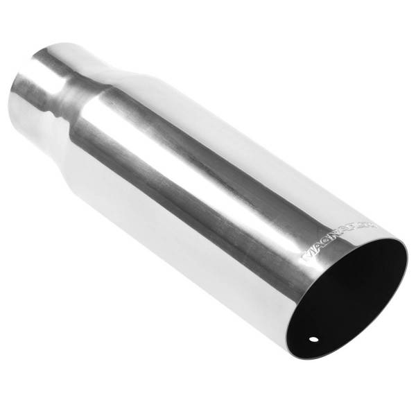 MagnaFlow Exhaust Products - MagnaFlow Exhaust Products Single Exhaust Tip - 2.5in. Inlet/3.5in. Outlet 35205