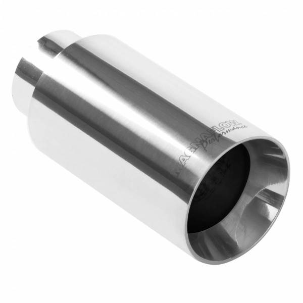 MagnaFlow Exhaust Products - MagnaFlow Exhaust Products Single Exhaust Tip - 2.25in. Inlet/3.5in. Outlet 35125