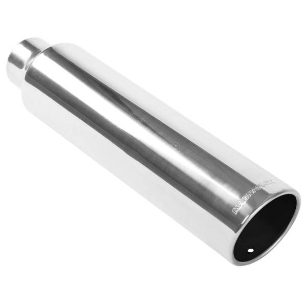 MagnaFlow Exhaust Products - MagnaFlow Exhaust Products Single Exhaust Tip - 2.25in. Inlet/3.5in. Outlet 35217