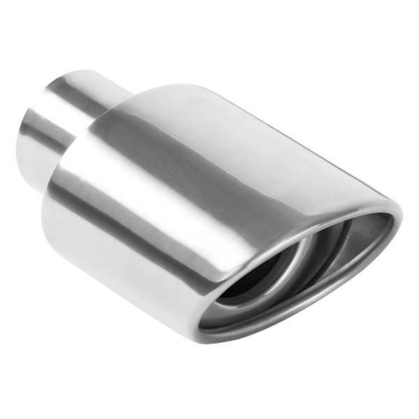 MagnaFlow Exhaust Products - MagnaFlow Exhaust Products Single Exhaust Tip - 2.25in. Inlet/3.25 x 4.5in. Outlet 35158