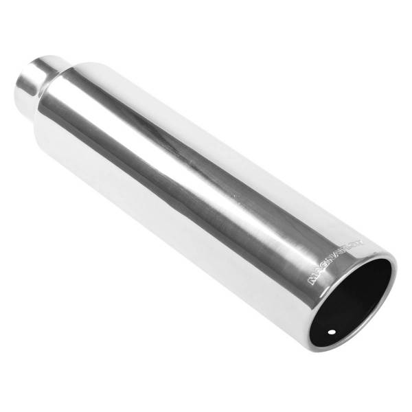 MagnaFlow Exhaust Products - MagnaFlow Exhaust Products Single Exhaust Tip - 2.5in. Inlet/4in. Outlet 35117