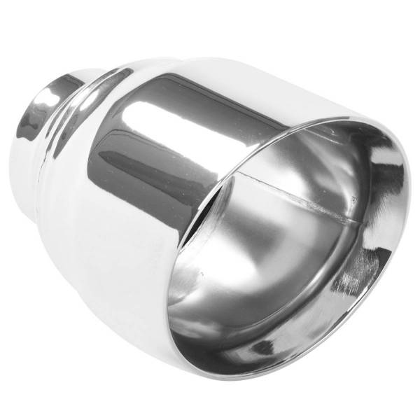 MagnaFlow Exhaust Products - MagnaFlow Exhaust Products Single Exhaust Tip - 2.5in. Inlet/4.5in. Outlet 35224
