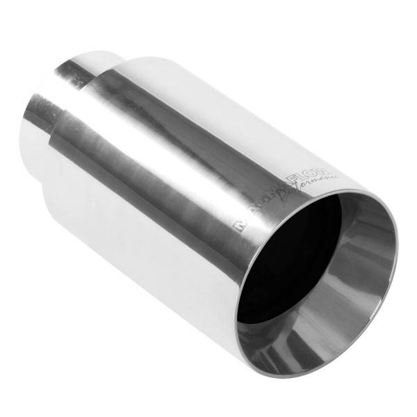 MagnaFlow Exhaust Products - MagnaFlow Exhaust Products Single Exhaust Tip - 2.25in. Inlet/4in. Outlet 35126