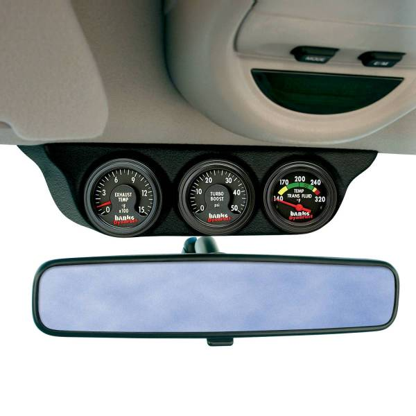 Banks Power - Banks Power Overhead Console Pod 3 Gauges 1999-2006 Chevy Truck Black 63361