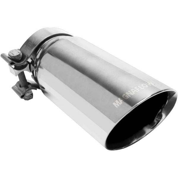 MagnaFlow Exhaust Products - MagnaFlow Exhaust Products Single Exhaust Tip - 2.75in. Inlet/3.5in. Outlet 35210