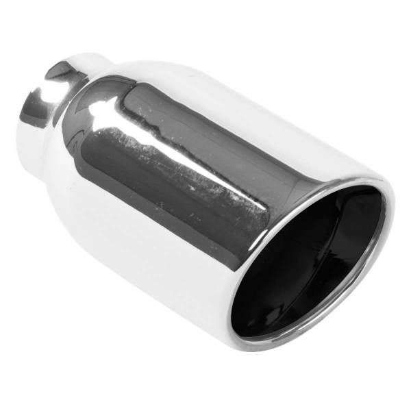 MagnaFlow Exhaust Products - MagnaFlow Exhaust Products Single Exhaust Tip - 2.25in. Inlet/4in. Outlet 35164