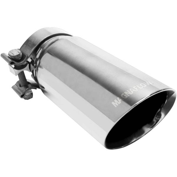MagnaFlow Exhaust Products - MagnaFlow Exhaust Products Single Exhaust Tip - 3in. Inlet/3.5in. Outlet 35211