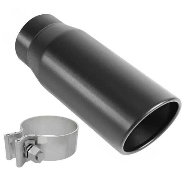 MagnaFlow Exhaust Products - MagnaFlow Exhaust Products Single Exhaust Tip - 3in. Inlet/4in. Outlet 35236