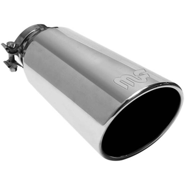 MagnaFlow Exhaust Products - MagnaFlow Exhaust Products Single Exhaust Tip - 4in. Inlet/5in. Outlet 35186