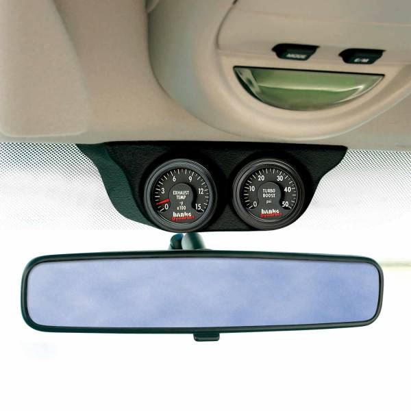 Banks Power - Overhead Console Pod 2 Gauges 1999-2006 Chevy Truck Black Banks Power
