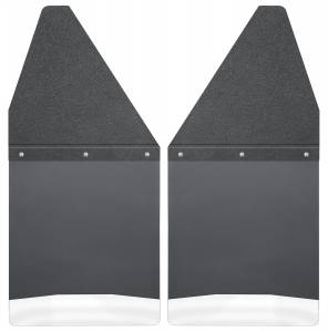 1500 - 19-20 (DT) V6/V8 - Husky Liners - Husky Liners Kick Back Mud Flaps 12 Wide - Black Top and Stainless Steel Weight 17100