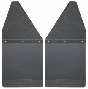 1500 - 19-20 (DT) V6/V8 - Husky Liners - Husky Liners Kick Back Mud Flaps 12 Wide - Black Top and Black Weight 17101