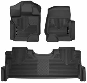 F-250/F-350 - 2020 Power Stroke 6.7L - Husky Liners - Husky Liners Front & 2nd Seat Floor Liners 53388
