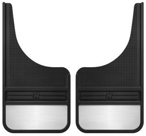 Grand Cherokee - 99-04 (WJ) 4.0L/4.7L - Husky Liners - Husky Liners Rubber Front Mud Flaps - 12IN w/ Weight 55001