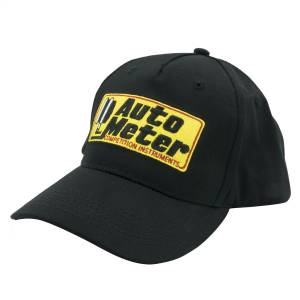 Apparel & Accessories - Hats - AutoMeter - AutoMeter HAT,SNAP FIT ADJUSTABLE,BLACK,EMBROIDERED,'COMPETITION' 0436