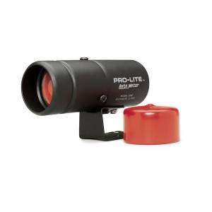 Lighting - Lighting Accessories - AutoMeter - AutoMeter WARNING LIGHT, BLACK PRO-LITE, INCL. RED LENS & NIGHT COVER 3240
