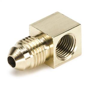 "Accessories - Misc. Hardware - AutoMeter - AutoMeter FITTING, ADAPTER, 90 Degree, 1/8"" NPTF FEMALE TO -4AN MALE, BRASS 3271"