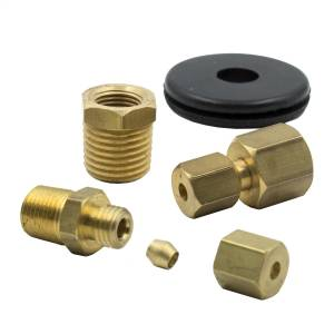 "Accessories - Misc. Hardware - AutoMeter - AutoMeter FITTING KIT, 1/8"" NPTF COMPRESSION TO 1/8"" LINE, BRASS 3290"
