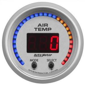 "Electrical - Misc. Electircal - AutoMeter - AutoMeter GAUGE, AIR TEMP, DUAL, 2 1/16"" , 0-300 Degrees F, DIGITAL, ULTRA-LITE 4358"