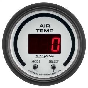 "Electrical - Misc. Electircal - AutoMeter - AutoMeter GAUGE, AIR TEMP, DUAL, 2 1/16"" , 0-300 Degrees F, DIGITAL, PHANTOM 5758"