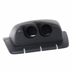 Wrangler - 96-06 Wrangler TJ 2.5L/4.0L - Banks Power - Dash Mount Gauge Pod 2 Gauge 1996-2007 Jeep Wrangler TJ Black Banks Power