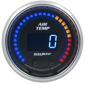 "Electrical - Misc. Electircal - AutoMeter - AutoMeter GAUGE, AIR TEMP, DUAL, 2 1/16"" , 0-300 Degrees F, DIGITAL, COBALT 6158"