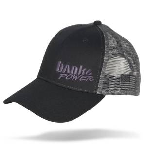Apparel & Accessories - Hats - Banks Power - Banks Power Hat Twill/Mesh Black/Gray/Black Curved Bill Snap Backstrap Banks Power