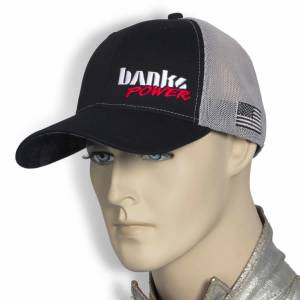 Banks Power - Power Hat Twill/Mesh Black/Gray/WhiteRed Curved Bill Flexible Fit Banks Power - Image 4