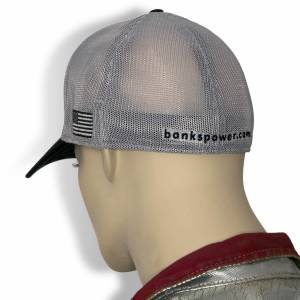 Banks Power - Power Hat Twill/Mesh Black/Gray/WhiteRed Curved Bill Flexible Fit Banks Power - Image 5