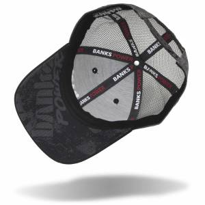 Banks Power - Power Hat Twill/Mesh Black/Gray/WhiteRed Curved Bill Snap Backstrap Banks Power - Image 3