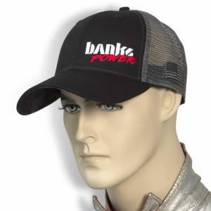 Banks Power - Power Hat Twill/Mesh Black/Gray/WhiteRed Curved Bill Snap Backstrap Banks Power - Image 4