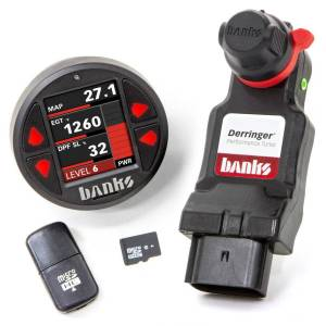 Performance - Chips & Tuners - Banks Power - Derringer Tuner w/DataMonster with ActiveSafety includes Banks iDash 1.8 DataMonster for 2020 Chevy/GMC 2500/3500 6.6L Duramax L5P Banks Power