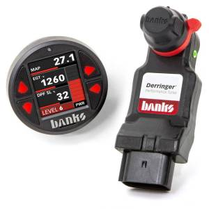 Performance - Chips & Tuners - Banks Power - Derringer Tuner w/SuperGauge includes ActiveSafety and Banks iDash 1.8 SuperGauge for 2020 Chevy/GMC 2500/3500 6.6L Duramax L5P Banks Power