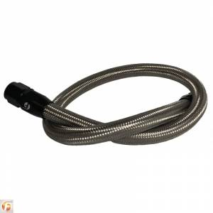 2500/3500 - 07.5-09 Cummins 6.7L - Fleece Performance - 34.5 Inch Common Rail/VP44 Cummins Coolant Bypass Hose Stainless Steel Braided Fleece Performance