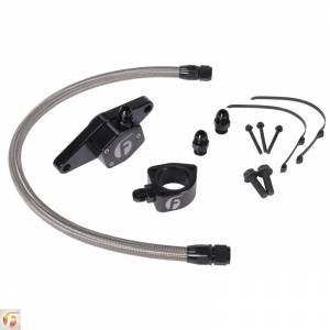 Engine Cooling - Cooling Parts - Fleece Performance - Cummins Coolant Bypass Kit VP 98.5-02 with Stainless Steel Braided Line Fleece Performance