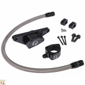 Engine Cooling - Cooling Parts - Fleece Performance - Cummins Coolant Bypass Kit 7.5-18 6.7L with Stainless Steel Braided Line Fleece Performance