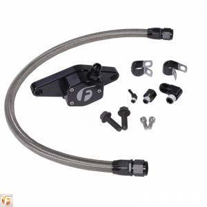 Engine Cooling - Cooling Parts - Fleece Performance - Cummins Coolant Bypass Kit 12V 94-98 with Stainless Steel Braided Line Fleece Performance
