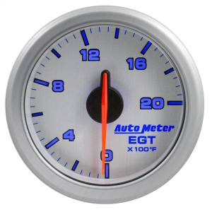 "Electrical - Gauges & Pods - AutoMeter - AutoMeter 2-1/16"" E.G.T, 0-2000 F, AIRDRIVE, SILVER 9145-UL"