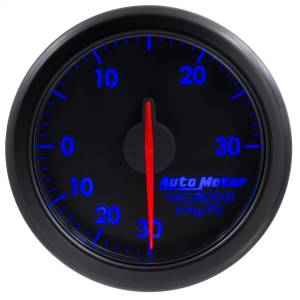"Electrical - Gauges & Pods - AutoMeter - AutoMeter 2-1/16"" BOOST/VAC, 30 IN HG/30 PSI, AIRDRIVE, BLACK 9159-T"