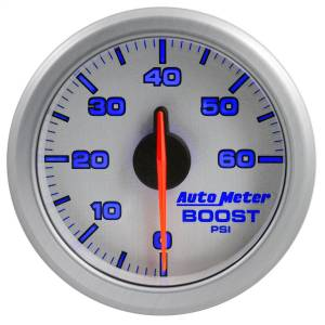 "Electrical - Gauges & Pods - AutoMeter - AutoMeter 2-1/16"" BOOST, 0-60 PSI, AIRDRIVE, SILVER 9160-UL"