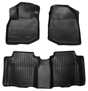 Honda/Acura - Fit - Husky Liners - Husky Liners Front & 2nd Seat Floor Liners 98491