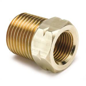 "Accessories - Misc. Hardware - AutoMeter - AutoMeter FITTING, ADAPTER, 1/2"" NPT MALE, BRASS, FOR AUTO GAGE MECH. TEMP. 2372"