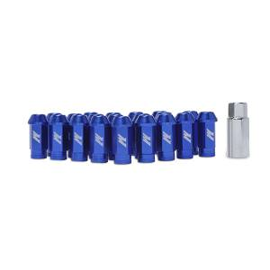 Wheels & Tires - Wheel & Tire Accessories - Mishimoto - Mishimoto Mishimoto Aluminum Locking Lug Nuts, M12 x 1.25, Blue MMLG-125-LOCKBL