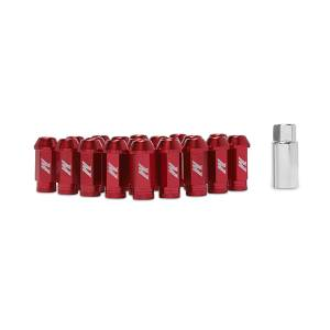 Wheels & Tires - Wheel & Tire Accessories - Mishimoto - Mishimoto Mishimoto Aluminum Locking Lug Nuts, M12 x 1.5, Red MMLG-15-LOCKRD