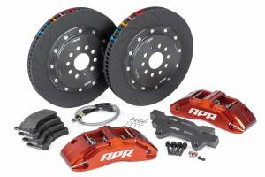 Brakes - Brake Components - APR - APR Brakes - 380x34mm 2 Piece 6 Piston Kit - Front - Red - RS3 8V Hatch