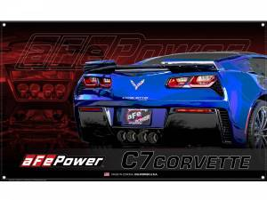 Accessories - Misc. Accessories - aFe Power - aFe Power aFe POWER Display Banner Corvette C7 40-10219