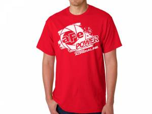Apparel & Accessories - Shirts - aFe Power - aFe Power aFe POWER Logo Mens T-Shirt Red (L) 40-30393