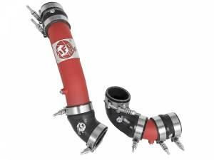 aFe Power BladeRunner 2-1/4 IN & 2-1/2 IN Aluminum Hot and Cold Charge Pipe Kit Red 46-20324-R